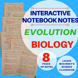 Biology Interactive Notebook - Evolution, Classification, Dichotomous Key Notes