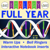 Biology Warm Ups, Bell Ringers, Interactive Notebook Inserts, FULL YEAR