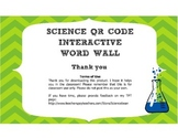 Biology Interactive Word Wall! - QR Code Vocab strips