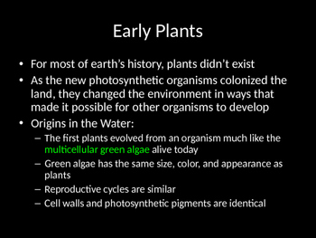 Biology! Plants: Different Types