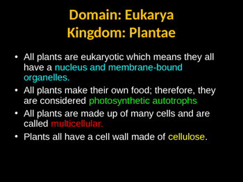 Biology! Plants: Structures and Systems