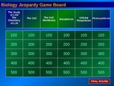 Biology Jeopardy Review Game #1