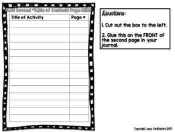 Biology Journal or Composition Notebook Set-Up