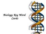Biology Key Word Flash Cards
