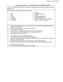 Biology LS - 13A Protein Synthesis (Transcription and Translation)