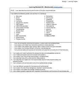 Biology LS - 2C Biochemistry