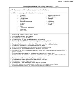Biology LS - 7B Cell Theory and Introduction to Cells
