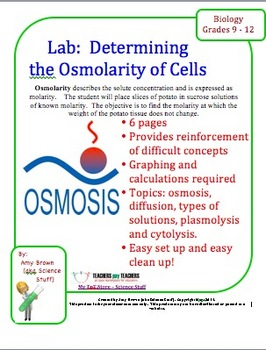 Biology Lab: Determining Osmolarity of Cells