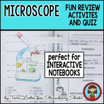 Biology Lab MICROSCOPE Interactive FUN Notebook Activities Review Homework Quiz
