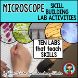 Biology Lab MICROSCOPE Labs that Develop SKILLS:  Staining, Measuring and more