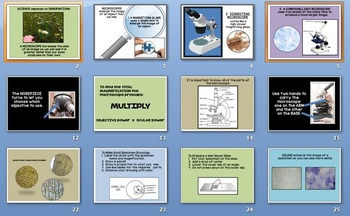 Biology Lab MICROSCOPE PowerPoint and Guided Notes w Diagram