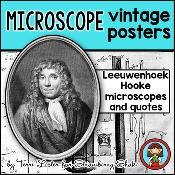 Biology Lab MICROSCOPE Vintage Posters and Quotes Leeuwenh