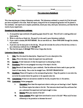 Science Lab Report Write Up