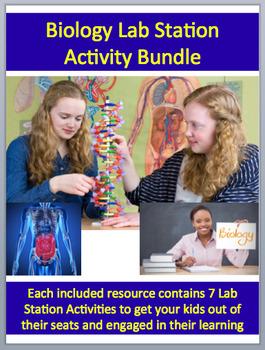 Biology Lab Station Activity Bundle - 17 - Engaging, Hands