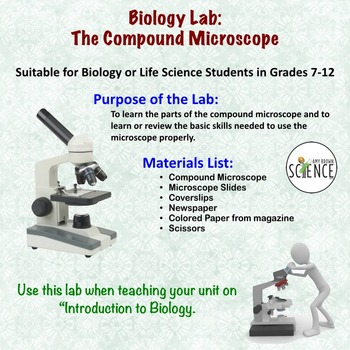 Microscope Lab:  The Compound Microscope