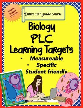 Biology Learning Targets