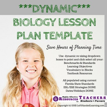 Biology Lesson Plan Template Automated Plan Book Fills Itself Fl