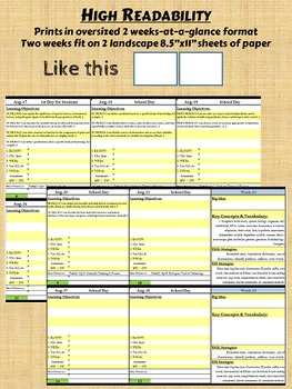 Biology Lesson Plan Template - Automated Plan Book Fills Itself - FL Standards