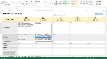Biology Lesson Plan Template - Drop Down NGSS Standards