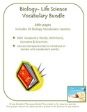 Biology - Life Science Vocabulary ~ 100+ pages ~ 500+ definitions