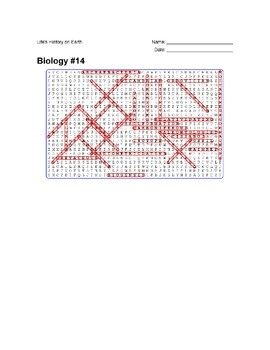 Biology #14- Life's History on Earth - Wordsearch Puzzle