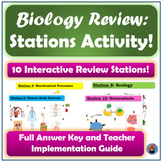 Biology (Living Environment) Regents Review Stations Activity