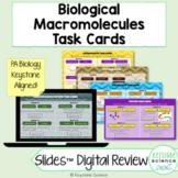 Biology Macromolecule Review Task Cards Digital Virtual Di