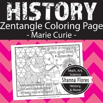 History: Madame Marie Curie Zen Coloring Page