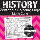 History, Chemistry: Madame Marie Curie Zen Coloring Page