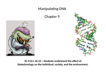 Biology - Manipulating DNA