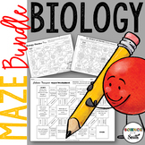 Biology Maze Bundle for Review or Assessment