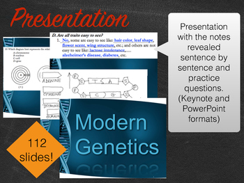 Biology Modern Genetics Notes Package Aligned with NYS Living Environment