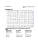 Biology #15 - Natural Selection - Wordsearch Puzzle