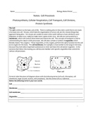 High School Biology Notes - Cell Processes
