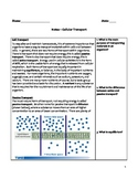 Free Biology Notes - Cellular Transport - Diffusion, Osmosis, Active Transport