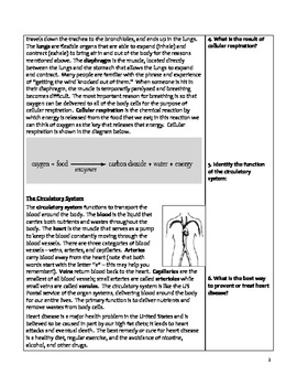 High School Biology Notes - Human Body Systems