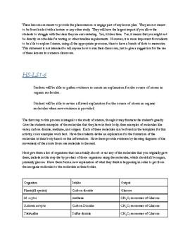 Biology Organic Molecules Activity HS-LS1-6