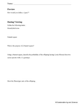 Biology-PUNNETT SQUARES: FuseSchool Biology Video Guide