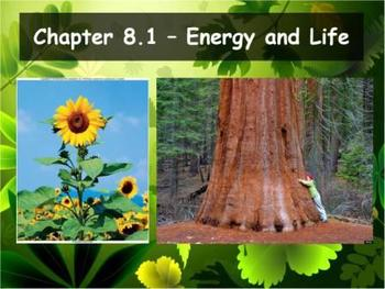 Biology - Photosynthesis (8.1 Energy and Life Powerpoint and Guided Notes)