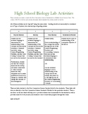 Biology Photosynthesis Activity HS-LS1-5