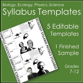 Biology, Physics, Science Syllabus Template By Alt-Ed Toolbox | Tpt