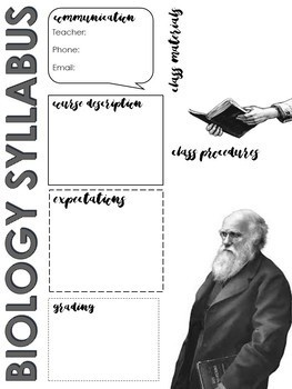 Biology, Physics, Science Syllabus Template