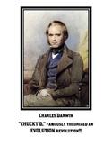"""Biology Posters - """"Funk Masters of Biology"""" Gregor Mendel - Charles Darwin"""