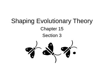 Biology Power Point Shaping Evolutionary Theory