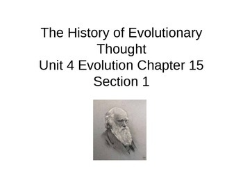 Biology Power Point History of Evolutionary Thought