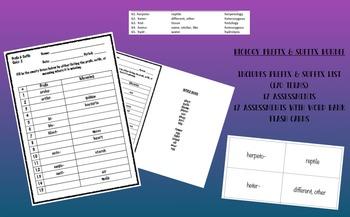 Biology Prefix & Suffix BUNDLE (Vocabulary)