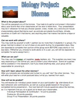 Biology Project- Biomes