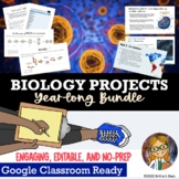 Biology Projects for the Year - BUNDLE   Google Classroom & Distance Learning