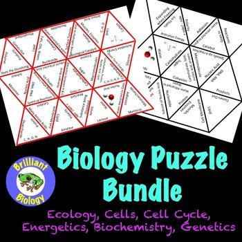 Biology Puzzles: Ecology, Biochemistry, Cells, Energetics, Mendelian Genetics