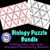 Biology Puzzle Bundle: Ecology, Biochemistry, Cells, Energetics, Genetics